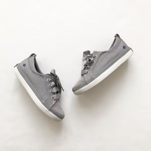 Sperry gray crest vibe canvas sneakers EUC size 13